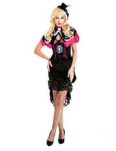 Cosplay Costumes Skeleton/Skull / Pirate Movie Cosplay Black Patchwork Dress / Headpiece / Cloak Halloween / Christmas / New Year Female