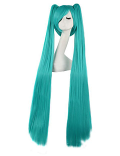 Cosplay Wigs Vocaloid Hatsune Miku Green Extra Long Anime Cosplay Wigs 120 CM Heat Resistant Fiber Male / Female
