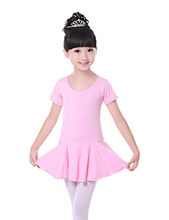 Ballet Dresses Children's Training Cotton Bow(s) 1 Piece Blue / Fuchsia / Pink Ballet Short Sleeve Natural Dress