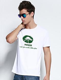 Outros Homens Respirável / Secagem Rápida / A Prova de Vento Esportes Relaxantes Blusas / Camiseta Branco / Azul Escuro / Azul Claro