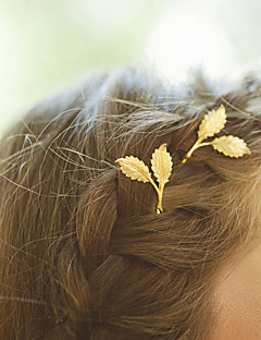 Women's Fashion Simple Natural Alloy Leaf Hairpin Hair Accessories 1 Piece