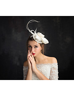 Women's Lace Feather Flax Net Headpiece-Special Occasion Fascinators 1 Piece