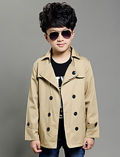 Boy's Cotton Spring/Autumn Casual Double-Breasted Trench Coat Fashion Long Sleeve Jackets Teenage Children Clothing