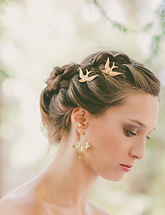 Women's Simple Metal Flying Swallow Hairpin Alloy Barrettes Hair Accessories  1 Piece