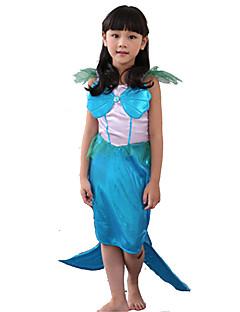 Cosplay Kostýmy / Kostým na Večírek / Maškarní Princeznovské / Malá mořská víla / Pohádkové Festival/Svátek Halloweenské kostýmy Modrá