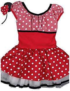 Menina de Vestido,Esportivo Poás Algodão / Elastano Todas as Estações Vermelho