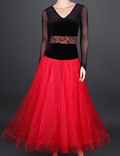 Devemos vestidos de dança de salão de baile feminino vestido vestido de rendas de tule