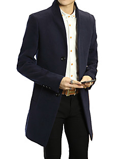 Winter 2016 new men's wool collar in the long section of British style wool coat double woolen coat