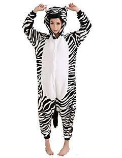 Kigurumi Pajamas Zebra Leotard/Onesie Festival/Holiday Animal Sleepwear Halloween Patchwork Flannel Kigurumi For Unisex Halloween