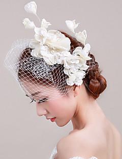 Women's Tulle / Basketwork / Net Headpiece-Wedding / Special Occasion / Casual / Outdoor Fascinators 1 Piece