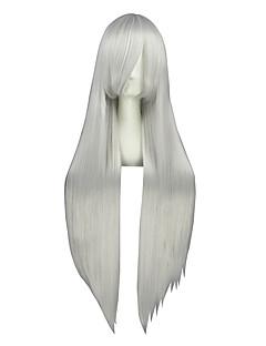 Cosplay Pruiken Vocaloid Haku Zilver Lang Anime Cosplay Pruiken 100 CM Hittebestendige vezel Mannelijk / Vrouwelijk