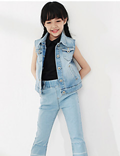 Girl's Casual/Daily Solid Vest,Cotton Spring / Fall Blue