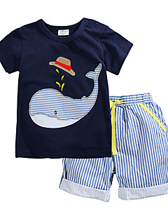 Boy's Cotton Tee / Shorts,Summer Animal Print