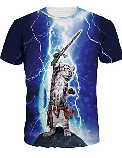geinspireerd door Cosplay Cosplay Anime Cosplay Kostuums Cosplay T-shirt Print  Blauw Korte mouw T-Shirt Voor unisex