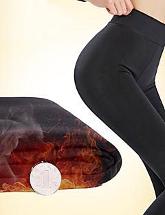 BONAS® Einheitliche Farbe / Innenfutter aus Fleece Dick Legging-S8158