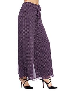 heartsoul női nyomtatási lila széles láb nadrág, egyszerű