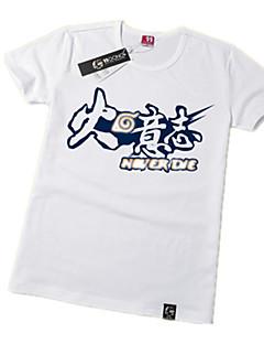 Inspirado por Naruto Naruto Uzumaki Animé Disfraces de cosplay Tops Bottoms Cosplay Estampado Blanco Manga Corta T-Shirt