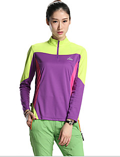 SPAKCT Cycling Jersey Women's Long Sleeve Bike Jersey + Shorts Tops Breathable Terylene Tactel Fashion Summer Exercise & FitnessPurple