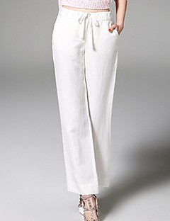 ANGEL  Women's Solid White Straight Pants,Street chic