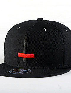 Fashion Men Women Hip Hop Red Black Cross Embroidery Street Dance Baseball Caps