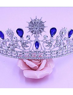 Women's Alloy Headpiece-Wedding Tiaras 1 Piece Blue Pear