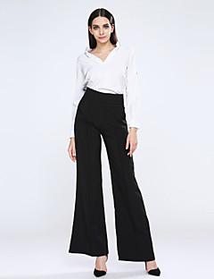 Pantalon Aux femmes Ample Décontracté Polyester Micro-élastique
