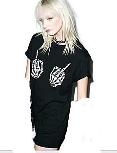 Punk Austattungen Kurzarm N/A Schwarz Lolita Kleid Baumwolle