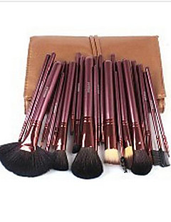 24 Makeup Brushes Set Goat Hair Full Coverage Wood Face ShangYang(Brush Package)