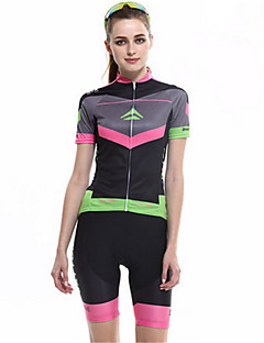 Sports Cycling Jersey with Shorts Women's Short Sleeve BikeBreathable / Windproof / High Breathability (>15,001g) / Compression /