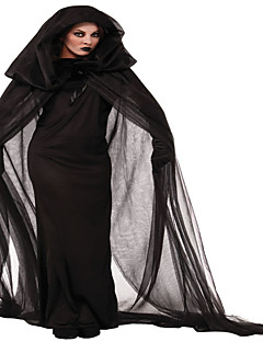 Costumes Wizard Witch Halloween Black / Red & Black Solid / Lace N/A Skirt / Gloves / Cloak