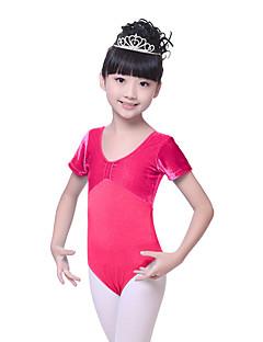 Ballet Leotards Children's Training Cotton / Velvet Ruched 1 Piece  BalletShort  Kid's Dance Costumes