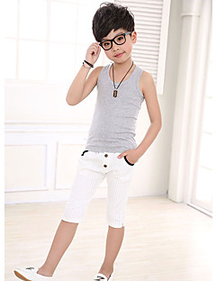 Boy's Casual/Daily Solid Tank & Cami,Cotton Summer White / Yellow / Gray