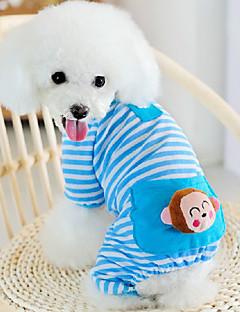 Kat Hund Kjeledresser Pyjamas Hundeklær Søtt Fritid/hverdag Tegneserie Gul Blå Rosa