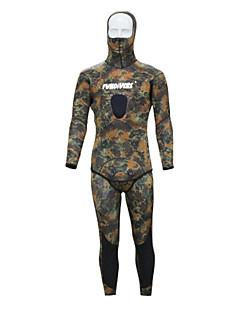 """ספורטיבי לגברים חליפה רטובה חליפת צלילה עיצוב אנטומי 3-3.4 מ""""מ ירוק צבאי XS / S / M / L / XL / XXL צלילה"""