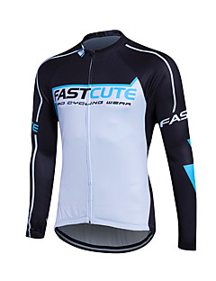 fastcute Cycling Jersey Women's Men's Kid's Unisex Long Sleeve Bike Jersey Sweatshirt TopsQuick Dry Front Zipper Breathable Soft YKK
