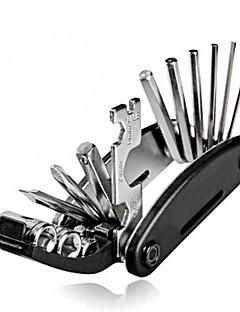 16 em 1 multi-função de ciclismo bicicleta conjunto ferramenta de reparo mecânico