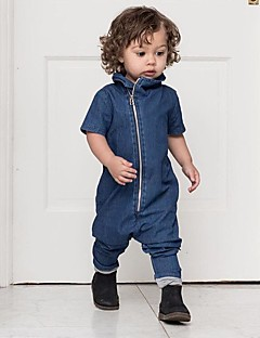 Boy's Casual/Daily Solid Overall & Jumpsuit,Cotton All Seasons Blue
