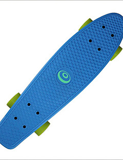 Cruisers Skateboard Professionelt Aluminiumslegering Sort Fade Sølv Unisex børn Unisex Adult 22.5 Inch