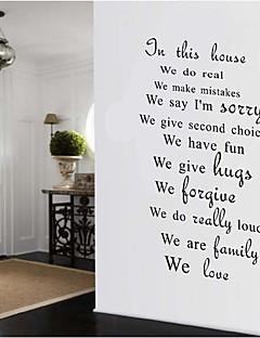 文字 ウォールステッカー プレーン・ウォールステッカー 飾りウォールステッカー,PVC 材料 再利用可 ホームデコレーション ウォールステッカー・壁用シール