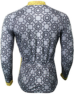 Sports Cycling Jersey Men's Long Sleeve Bike Breathable / Ultraviolet Resistant / Sweat-wicking Tops Coolmax Classic Summer / Fall/Autumn
