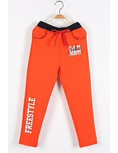 Boy's Casual/Daily Print Pants,Cotton Fall Blue / Orange / Gray
