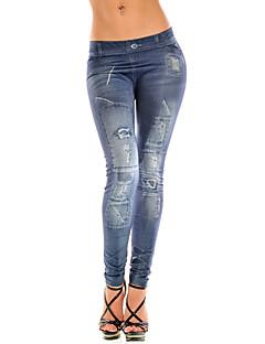 Naisten Denim Leggingsit,Polyesteri