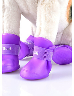 Gatos / Cães Sapatos e Botas / Capa de Chuva Prova-de-Água / Fantasias / Casual / EsportivoVermelho / Preto / Verde / Azul / Rosa /