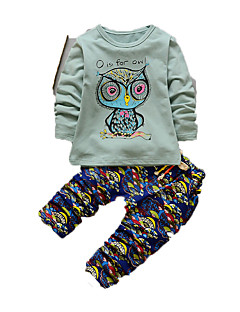 Boy's Casual/Daily Print Clothing SetCotton Fall Green / Pink / White