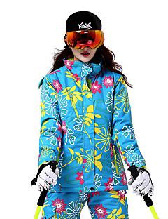 スキーウェア スキー/スノーボードジャケット 女性用 冬物ウェア コットン / ポリエステル 花/植物 冬物ウェア 保温 / 防風 スキー / スノースポーツ / スノーボード