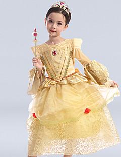 Plesové šaty K lýtkům Šaty pro květinovou družičku - Satén / Tyl / Polyester Dlouhý rukáv Kopeček s Flitry