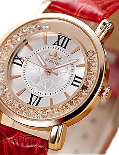 Női Unisex Divatos óra Kvarc / utánzat Diamond PU Zenekar Régies (Vintage) Fekete Fehér Piros Pink Fehér Fekete Piros Rózsaszín