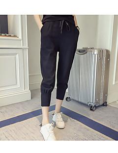 Women's Solid Black / Gray Sweatpants / Harem Pants,Simple / Active