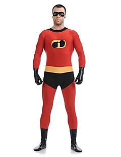 Zentai Suits Super Heroes Zentai Cosplay Costumes Red Patchwork Leotard/Onesie / Zentai Lycra / Spandex UnisexHalloween / Christmas /
