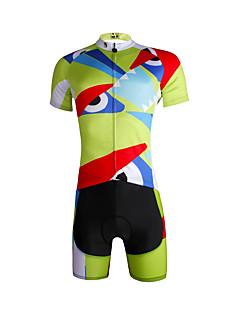 ILPALADINO חולצת ג'רסי ומכנס קצר לרכיבה לגברים שרוול קצר אופניים ג'רזי מדים בסטיםייבוש מהיר עמיד אולטרה סגול נושם רך מפחית שפשופים תומך